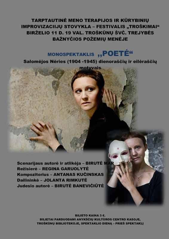 """Monospektaklis """"Poetė"""""""