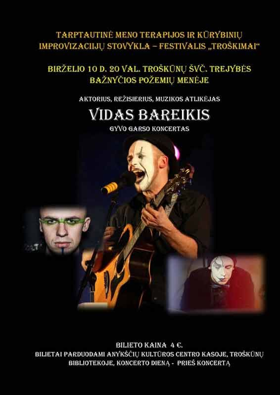 Vido Bareikio gyvo garso koncertas