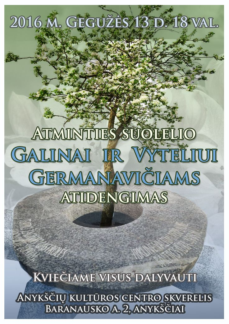 Atminties suolelio Galinai ir Vyteliui Germanavičiams atidengimas