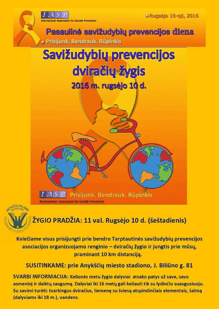 Savižudybių prevencijos dviračių žygis