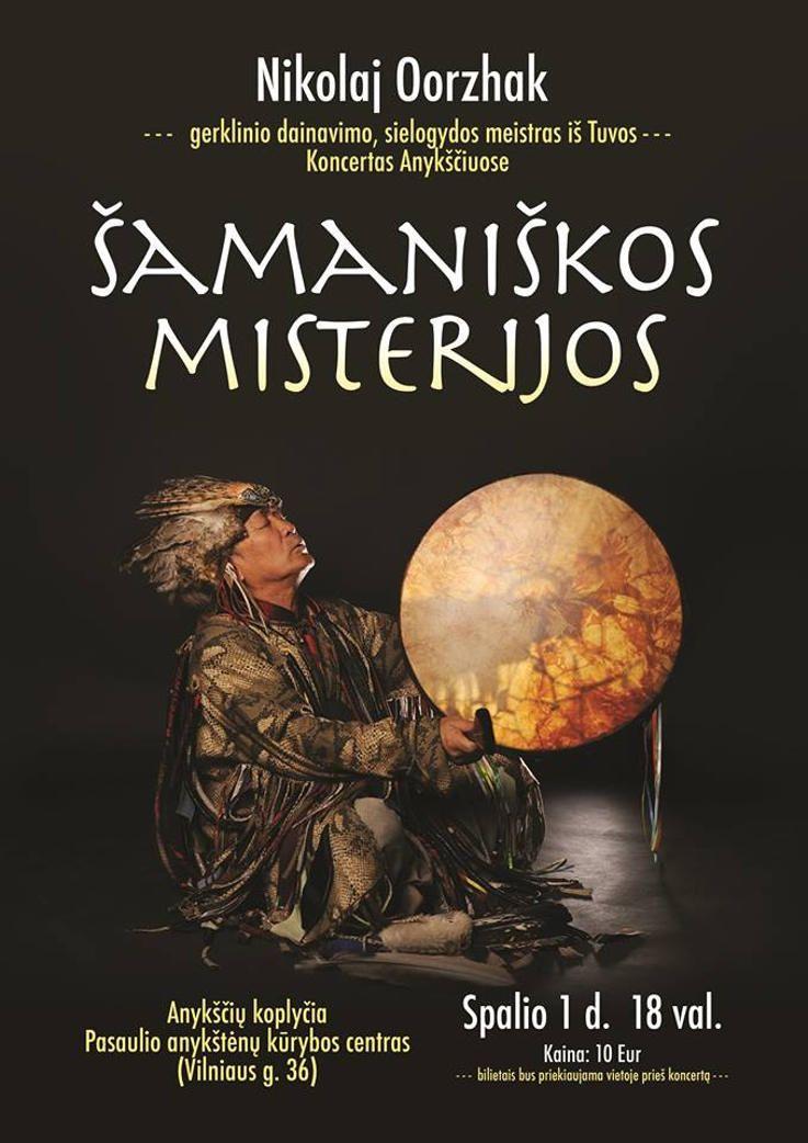 "Nikolajaus Ooržako koncertas ""Šamaniškos misterijos"""