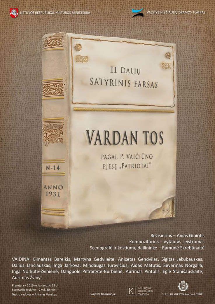 """Nacionalinės dramaturgijos festivalis """"Pakeleivingi″ (2016) - Aidas Giniotis """"Vardan tos"""""""