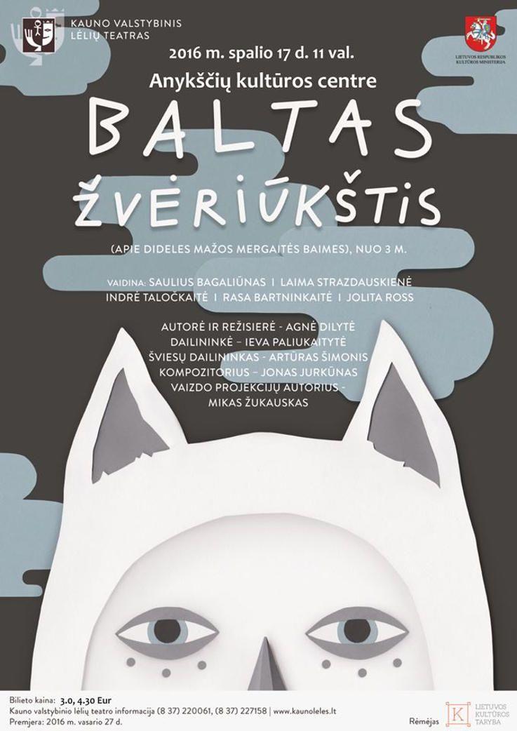 """Nacionalinės dramaturgijos festivalis """"Pakeleivingi″ (2016) - Agnė Dilytė """"Baltas žvėriūkštis"""""""