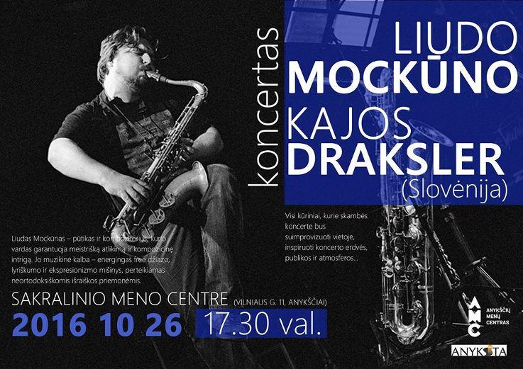 Susitikimas su dailininku Vyteniu Lingiu bei džiazo improvizacijos su Liudu Mockūnu ir Kaja Draksler