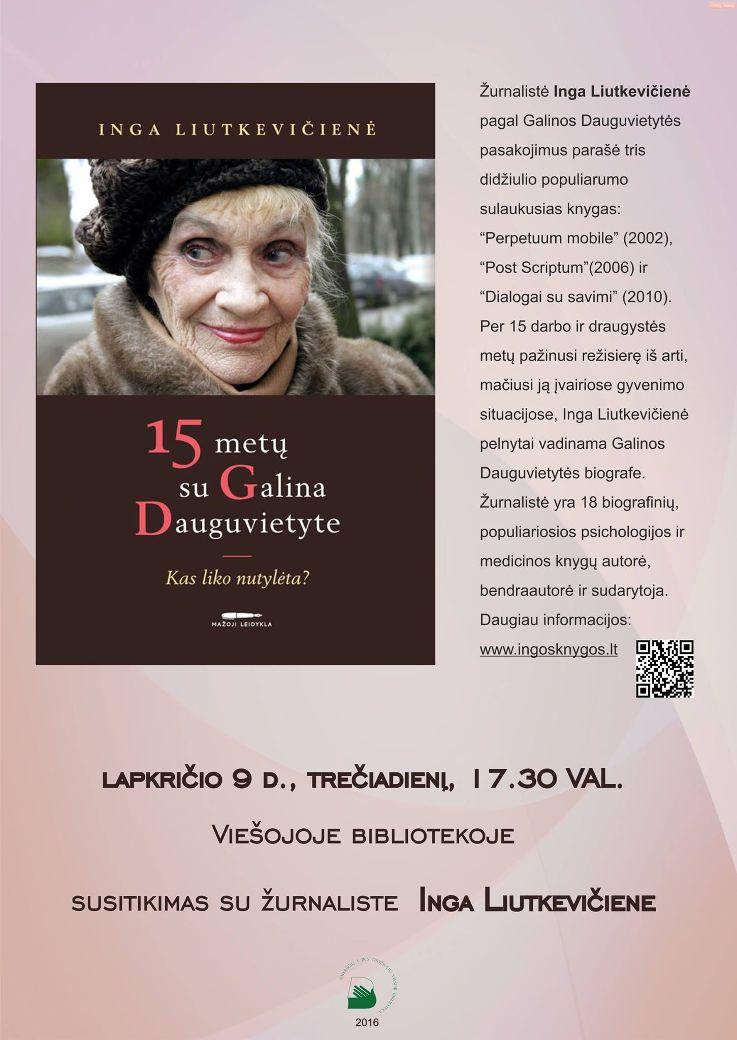 Susitikimas su žurnaliste Inga Liutkevičiene