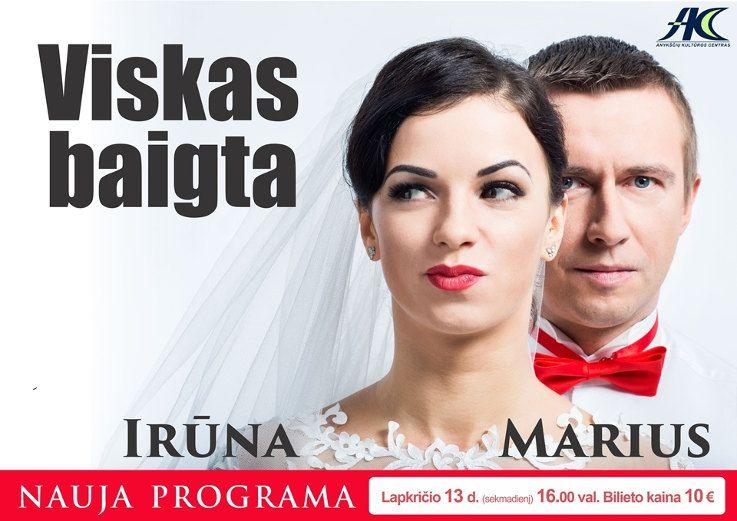 """Mariaus Jampolskio ir Irūnos koncertas """"Viskas baigta"""""""