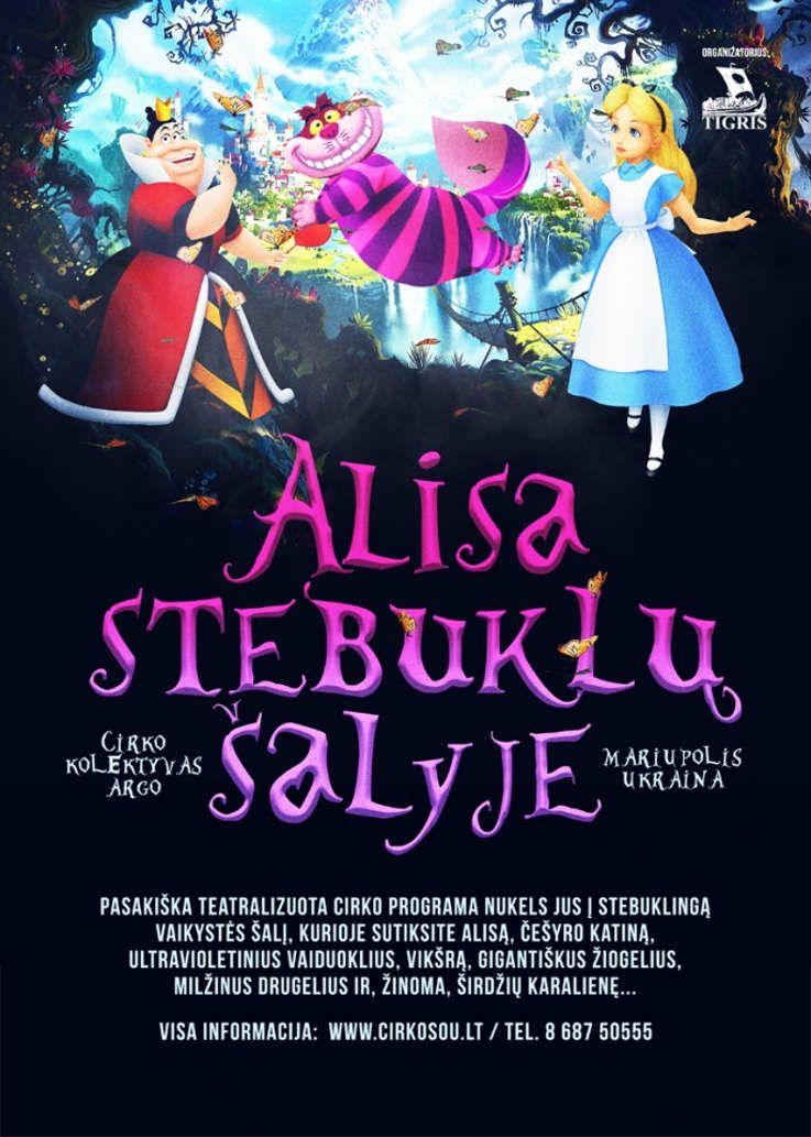 """Teatralizuotas cirko šou vaikams """"Alisa stebuklų šalyje"""""""