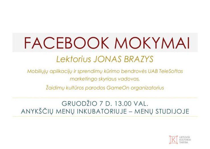 Facebook'o mokymai