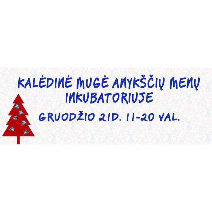 """Kalėdinė mugė Anykščių menų inkubatoriuje (2016) - Kūrybinės dirbtuvės """"Kalėdinė puošyba"""" su dekoratore Giedre Leitone"""