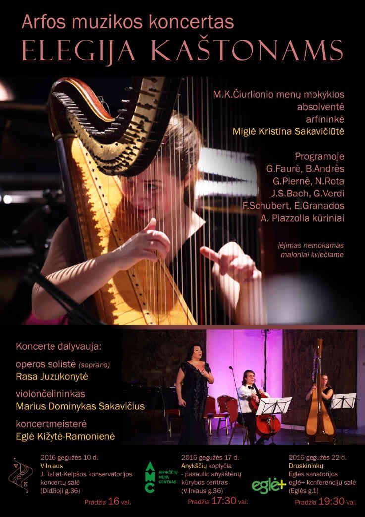 "Arfos muzikos koncertas ""Elegija kaštonams"""