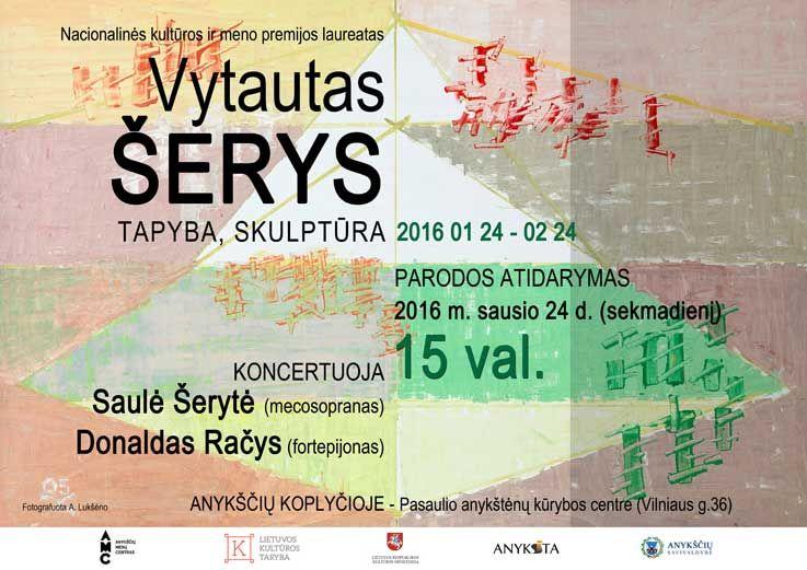 Dailininko Vytauto Šerio kūrybos darbų parodos atidarymas
