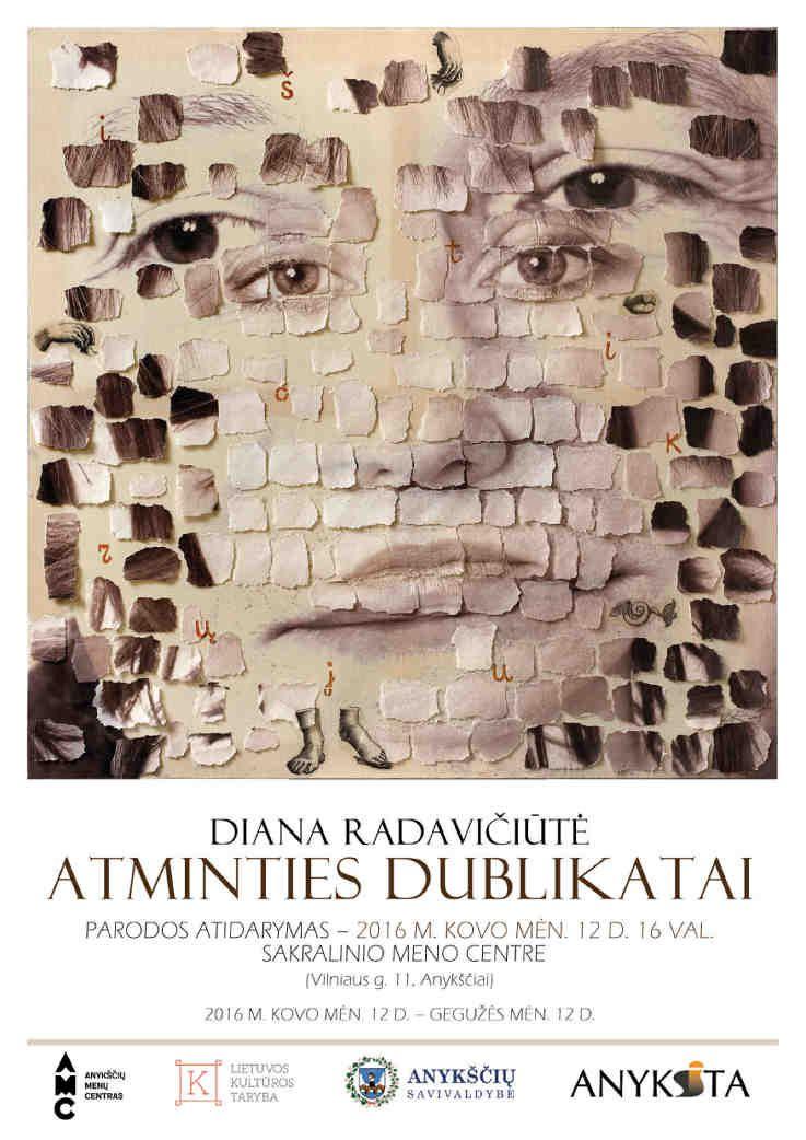 """Dianos Radavičiūtės parodos """"Atminties dublikatai"""" atidarymas"""