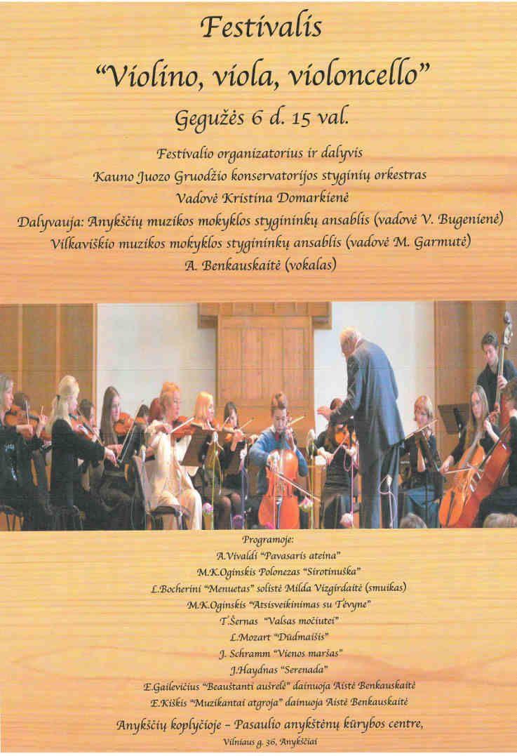 "Festivalio ""Violino, viola, violoncello"" koncertas"