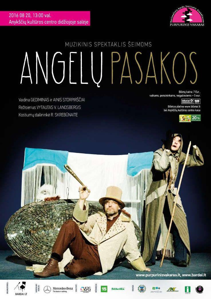 """Festivalis """"Purpurinis vakaras"""" (2016) - Muzikinis spektaklis šeimoms """"Angelų pasakos"""""""