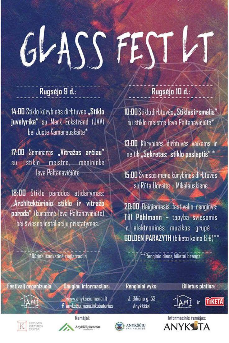 GLASS FEST LT - kūrybinių industrijų festivalis skirtas stiklo ir šviesų menui