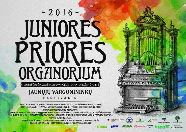 """Tarptautinis jaunųjų vargonininkų festivalis """"Juniores priores organorium"""" (2016) - Antroji diena"""