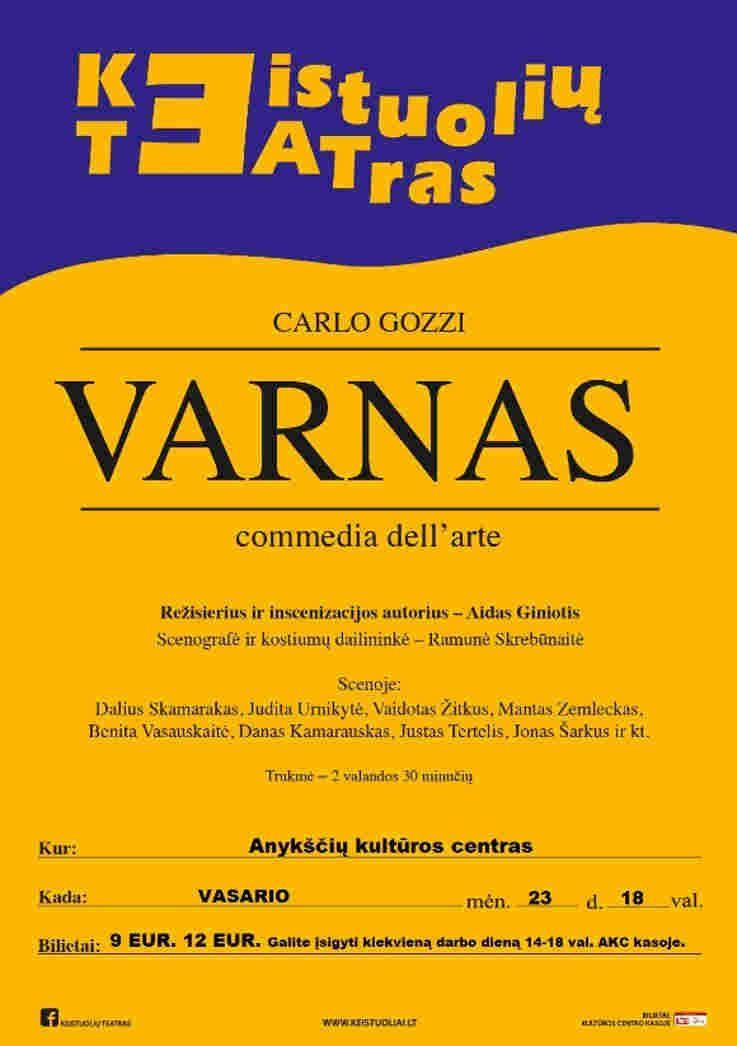 """Keistuolių teatras - Carlo Gozzi """"Varnas"""" commedia dell"""