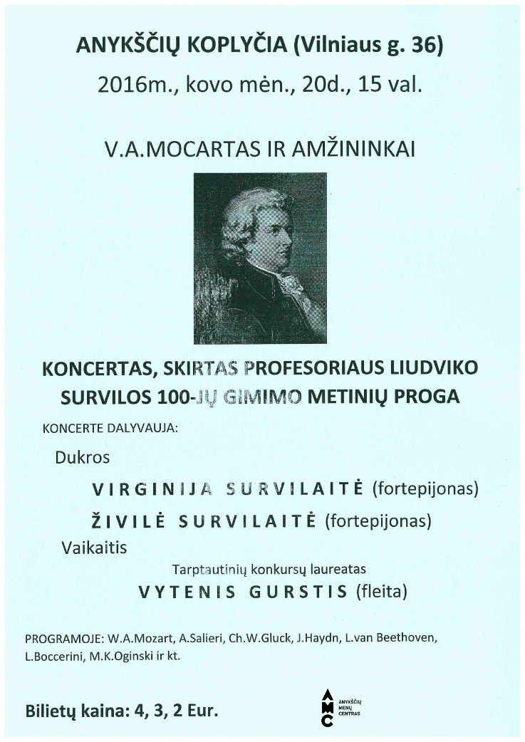 "Koncertas ""V. A. Mocartas ir amžininkai"""