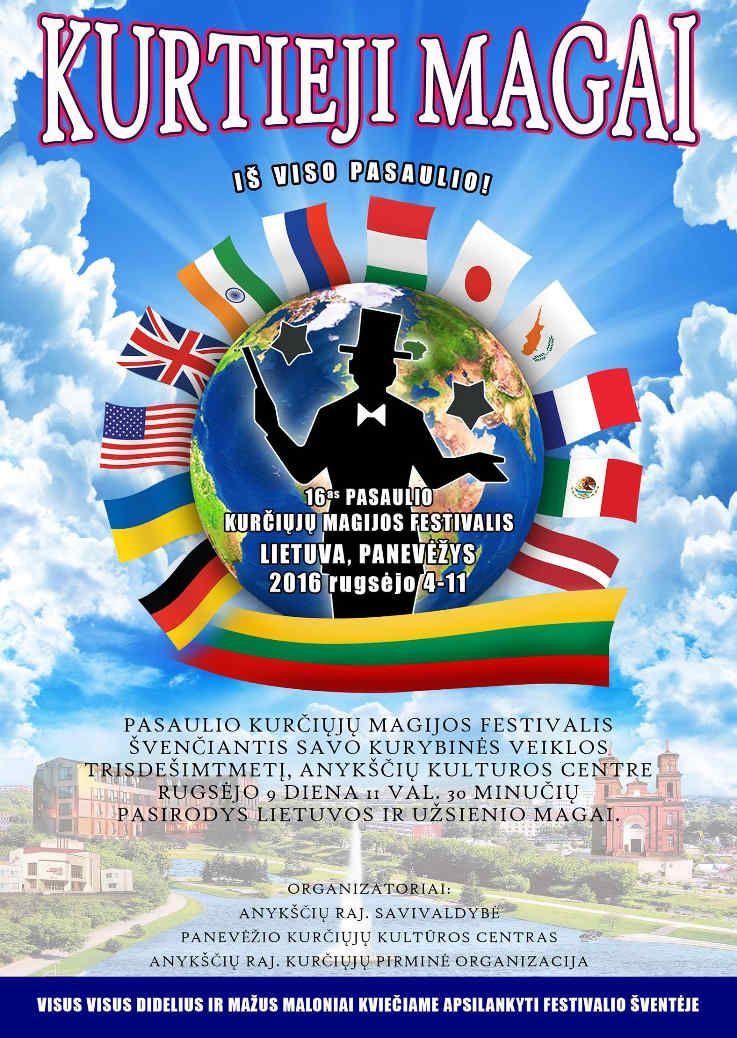 Kurtieji magai iš viso pasaulio! 16-as pasaulio kurčiųjų magijos festivalis