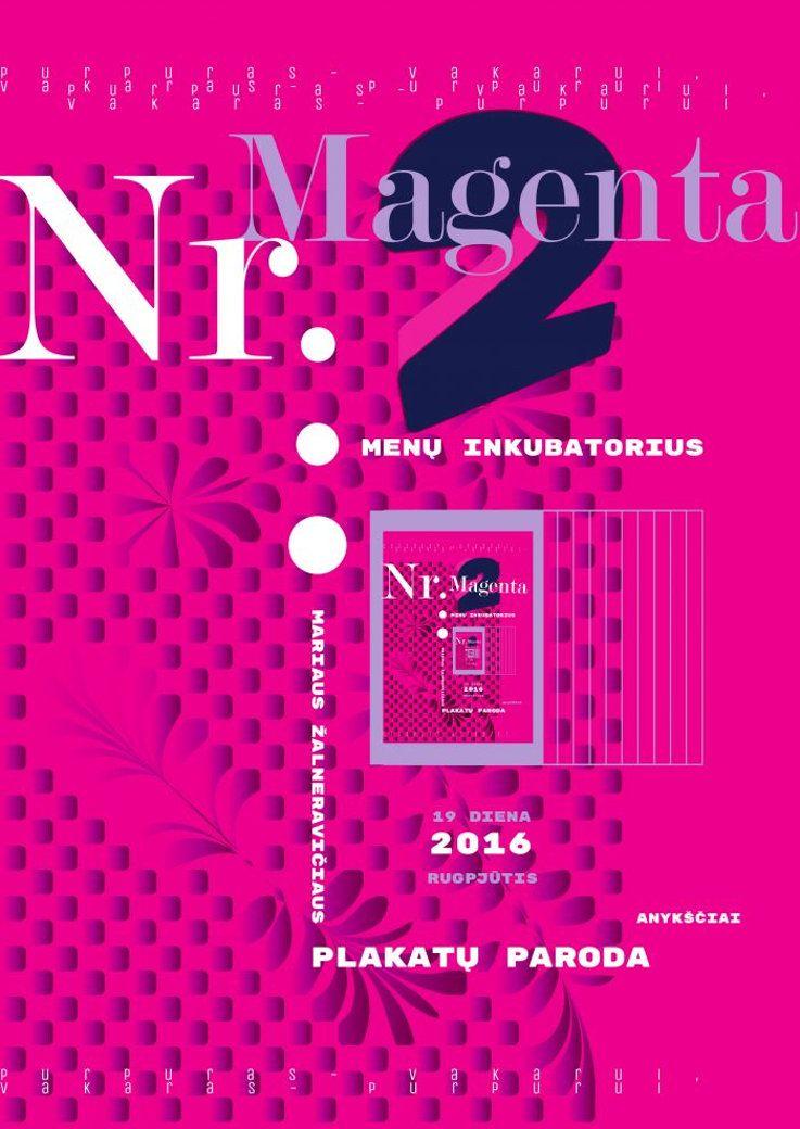 """Festivalis """"Purpurinis vakaras"""" (2016) - M. Žalneravičiaus plakatų parodos """"NR.2 MAGENTA"""" atidarymas"""