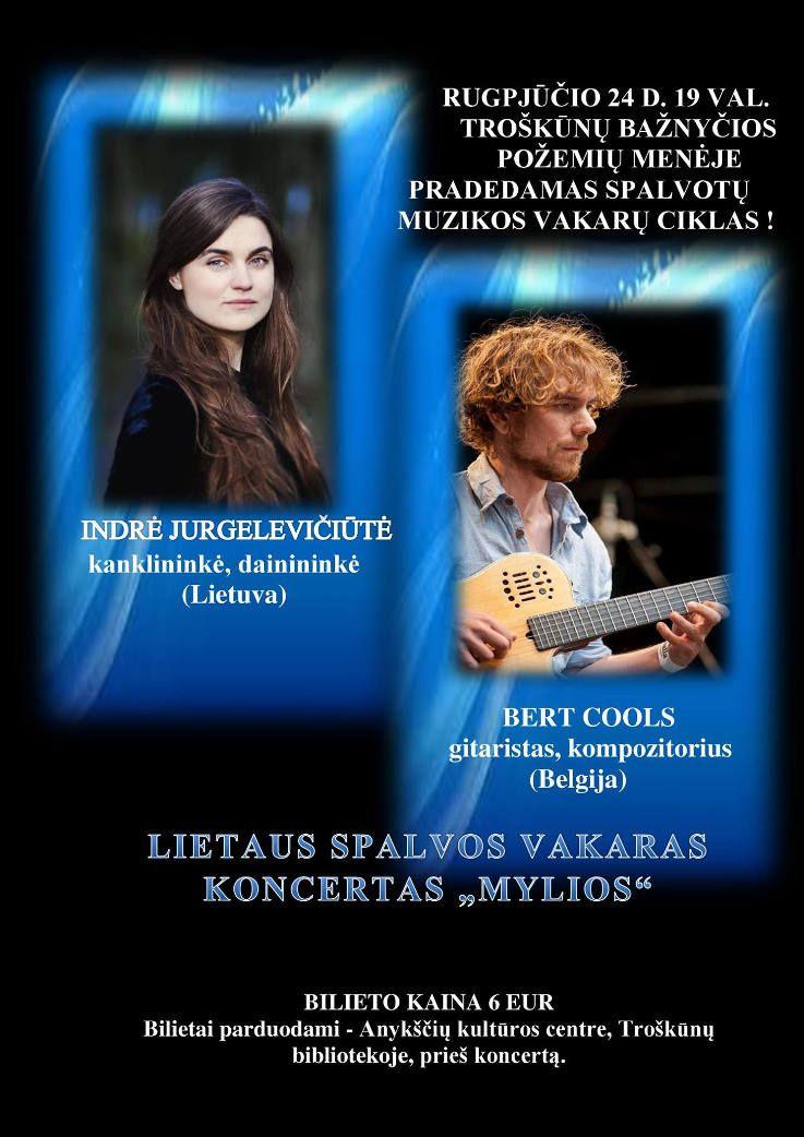 """Lietaus spalvos vakaras koncertas """"Mylios"""""""