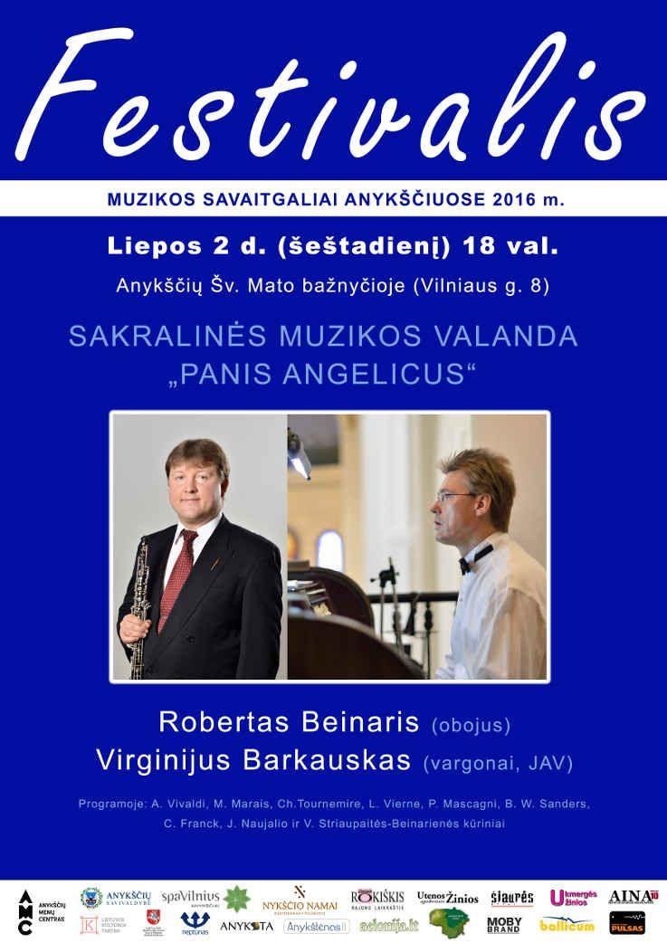 """Festivalis """"Muzikos savaitgaliai Anykščiuose"""" (2016) - Sakralinės muzikos valanda """"PANIS ANGELICUS"""""""