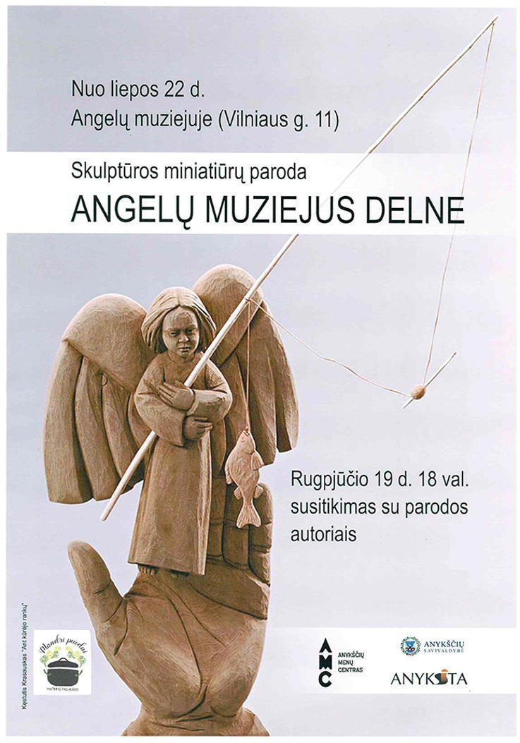 """Skulptūros miniatiūrų paroda """"Angelų muziejus delne"""""""