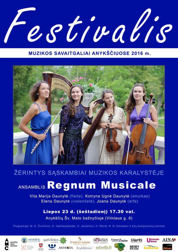 """Festivalis """"Muzikos savaitgaliai Anykščiuose"""" (2016) - Ansamblis """"Regnum Musicale"""""""