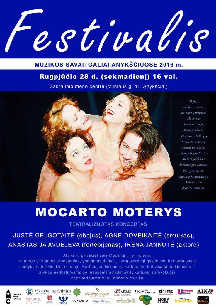 """Festivalis """"Muzikos savaitgaliai Anykščiuose"""" (2016) - Teatralizuotas koncertas """"Mocarto moterys"""""""