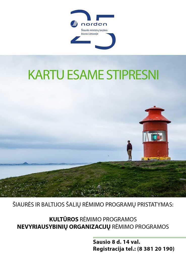 Šiaurės ir Baltijos šalių rėmimo programų pristatymas