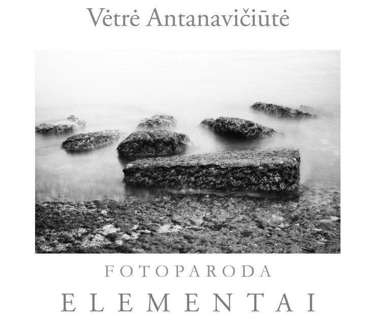 """Vėtrės Antanavičiūtės foto parodos """"Elementai"""" atidarymas"""
