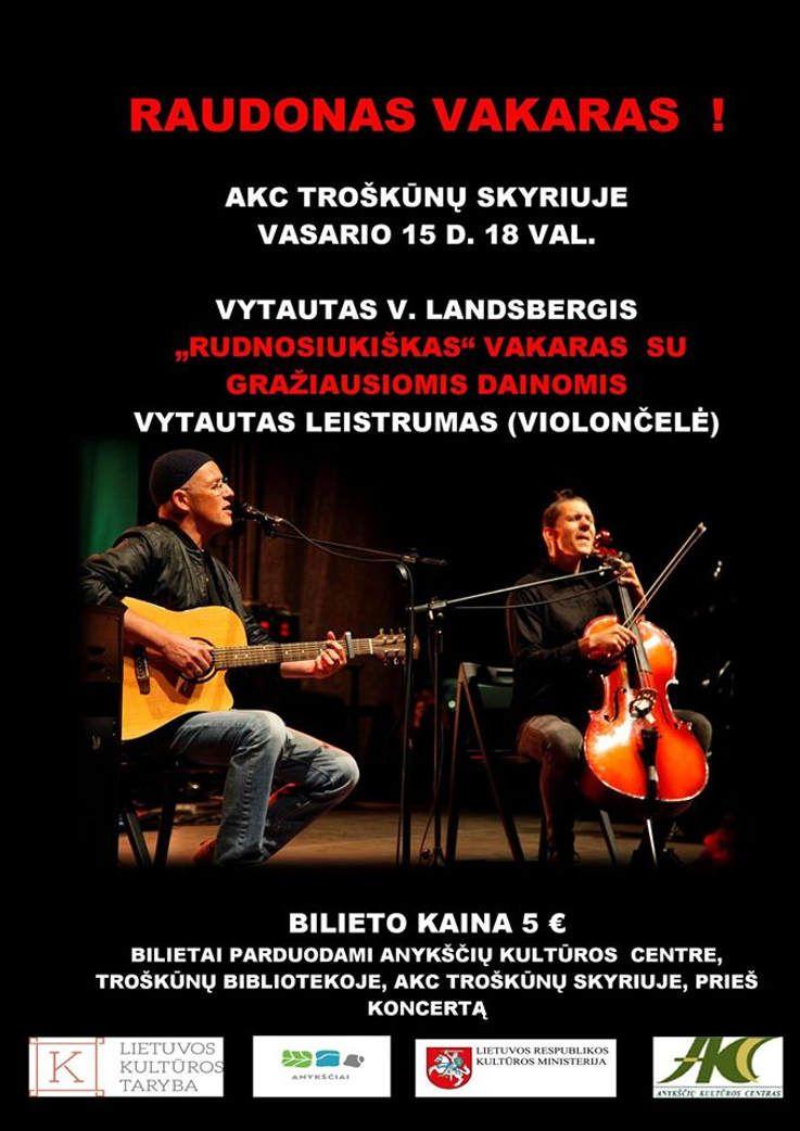 Raudonas vakaras - Vytautas V. Landsbergis - Vytautas Leistrumas
