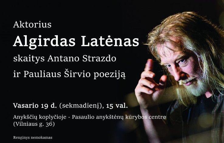 Aktorius Algirdas Latėnas skaitys poeziją