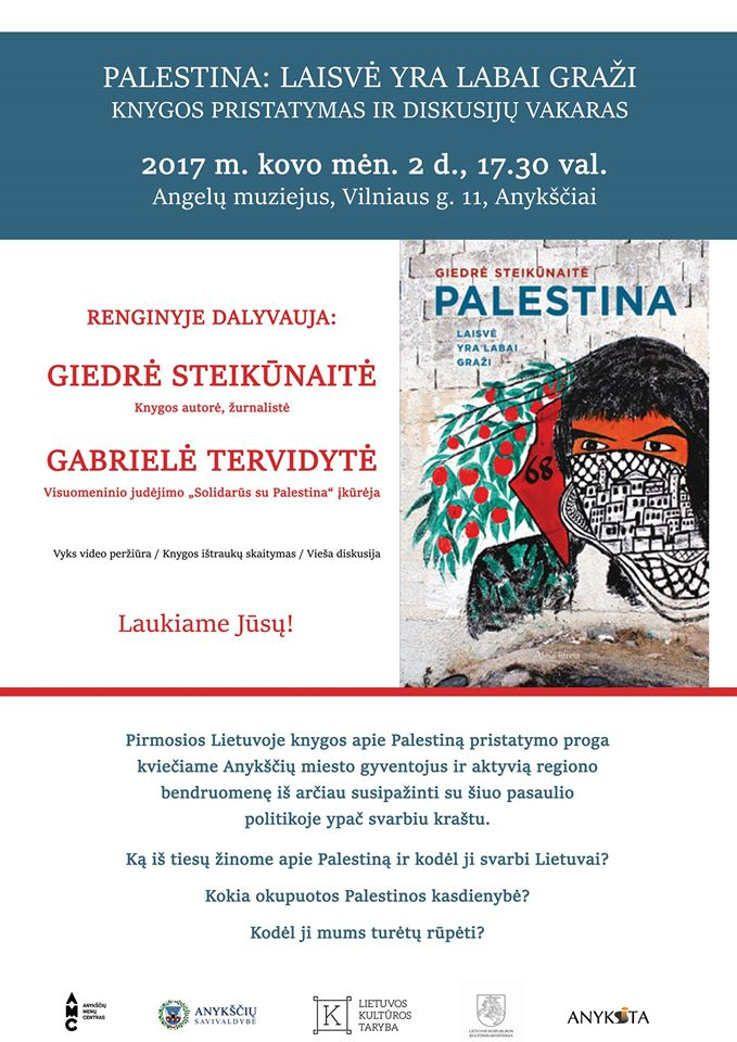 """Giedrės Steikūnaitės knygos """"Palestina: laisvė yra labai graži"""" pristatymas"""