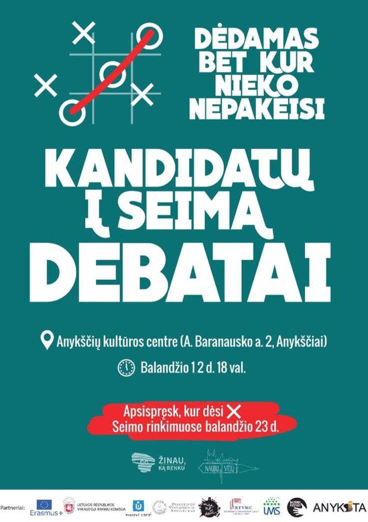 Kandidatų į LR Seimą Anykščių - Panevėžio apygardoje debatai