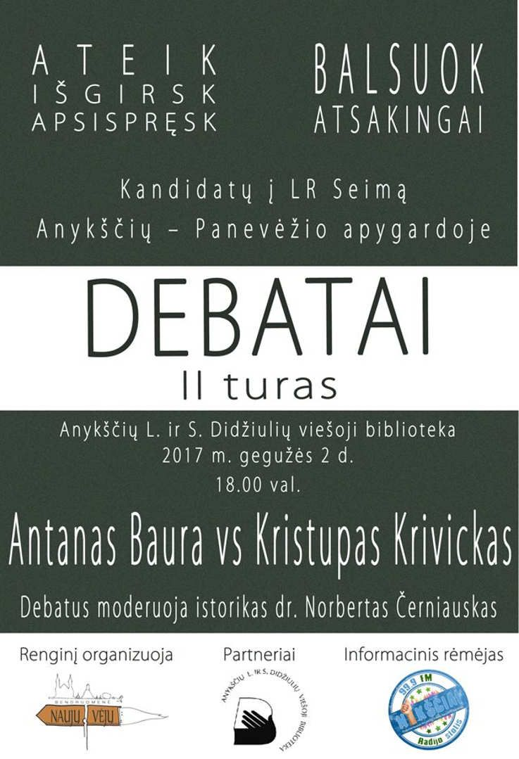 Kandidatų į LR Seimą debatai II turas