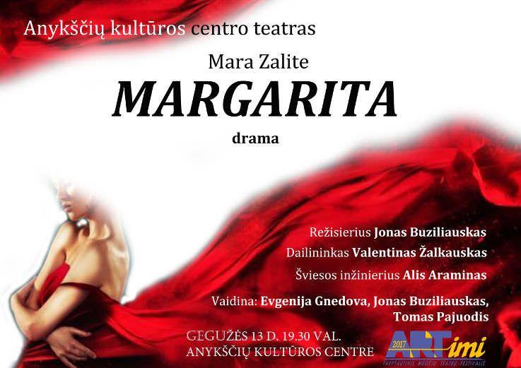 """Tarptautinis mėgėjų teatrų festivalis """"ARTimi"""" (2017) - Spektaklis """"Margarita"""""""