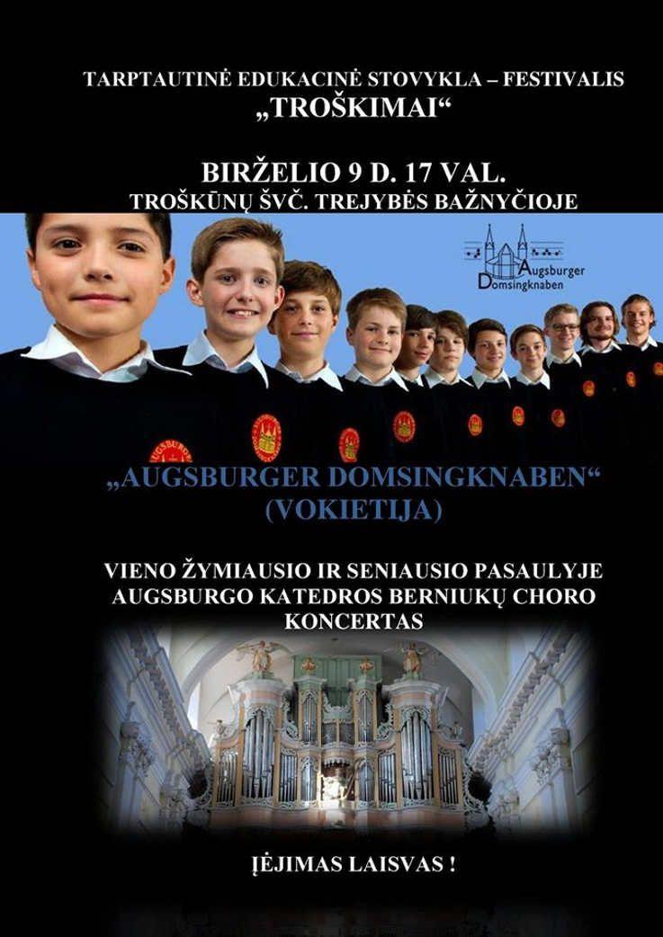 """Tarptautinė edukacinė stovykla - festivalis """"Troškimai"""" (2017) - """"Augsburger Domsingknaben"""" koncertas"""