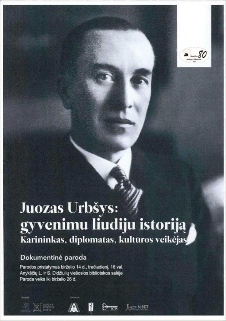 """Dokumentinės parodos """"Juozas Urbšys: gyvenimu liudiju istoriją"""" pristatymas"""