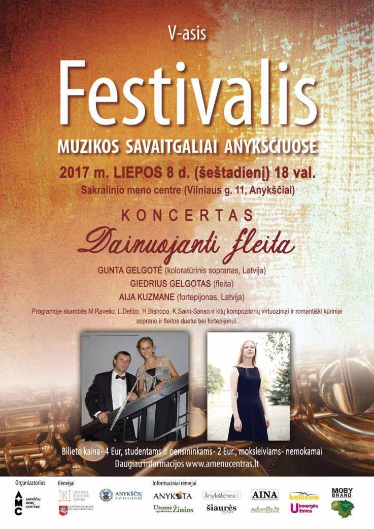 """Festivalis """"Muzikos savaitgaliai Anykščiuose"""" (2017) - Koncertas """"Dainuojanti fleita"""""""