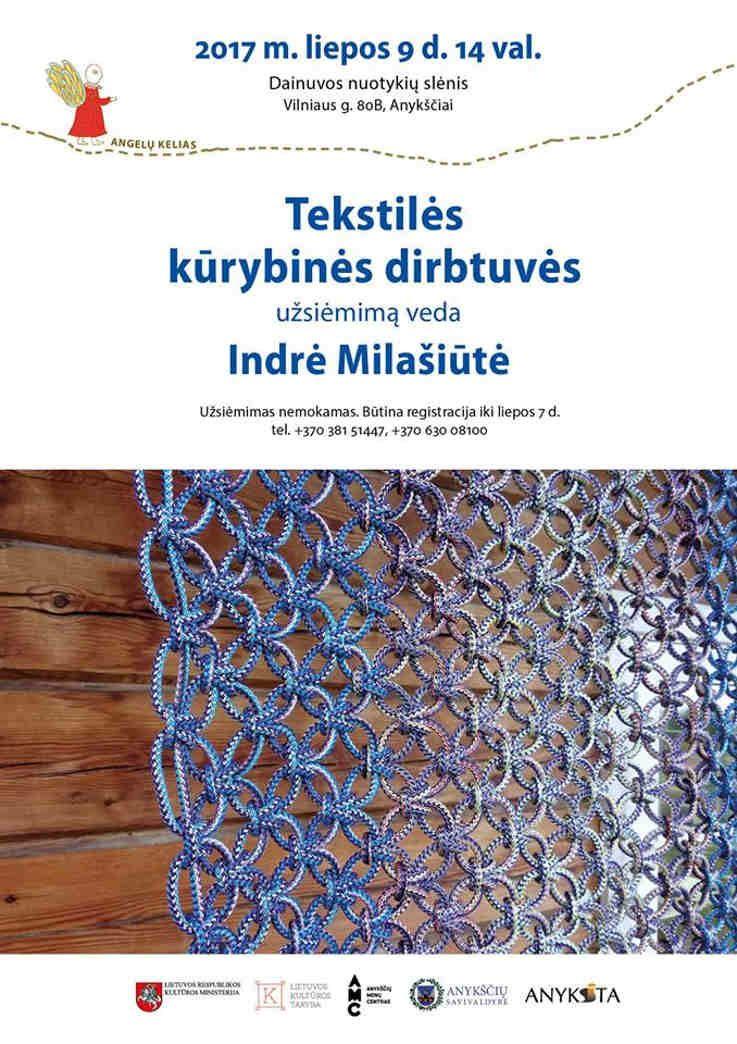 Tekstilės kūrybinės dirbtuvės