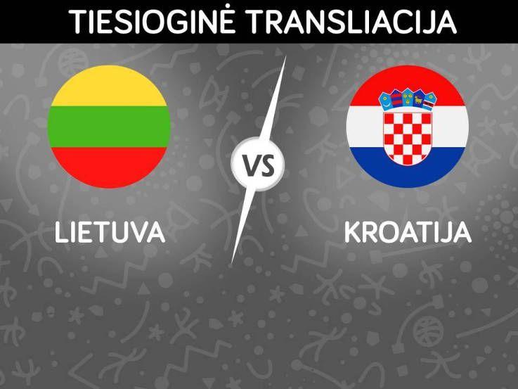 Draugiškos varžybos Lietuva ir Kroatija