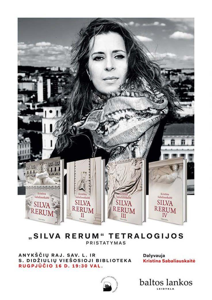 """""""Silva rerum"""" tetralogijos pristatymas"""