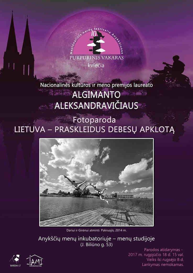 """Festivalis """"Purpurinis vakaras"""" (2017) - Fotografijų paroda """"Lietuva - praskleidus debesų apklotą"""""""
