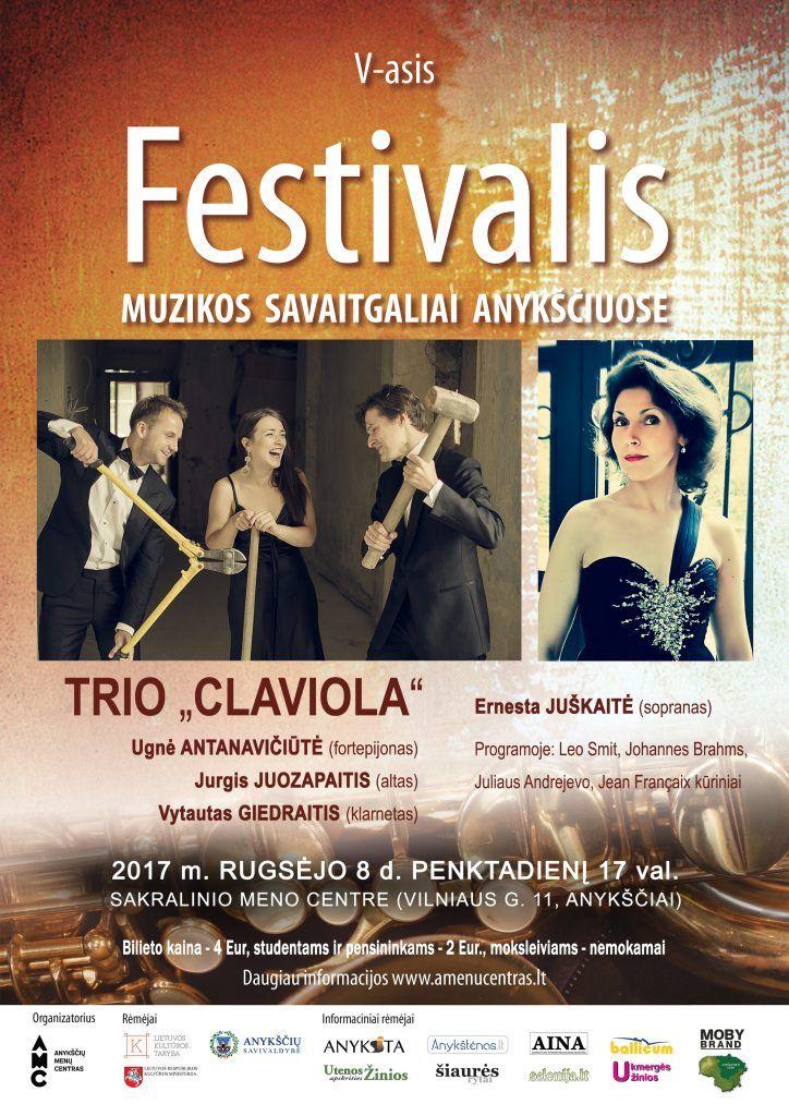 """Festivalis """"Muzikos savaitgaliai Anykščiuose"""" (2017) - Trio """"Claviola"""" koncertas"""