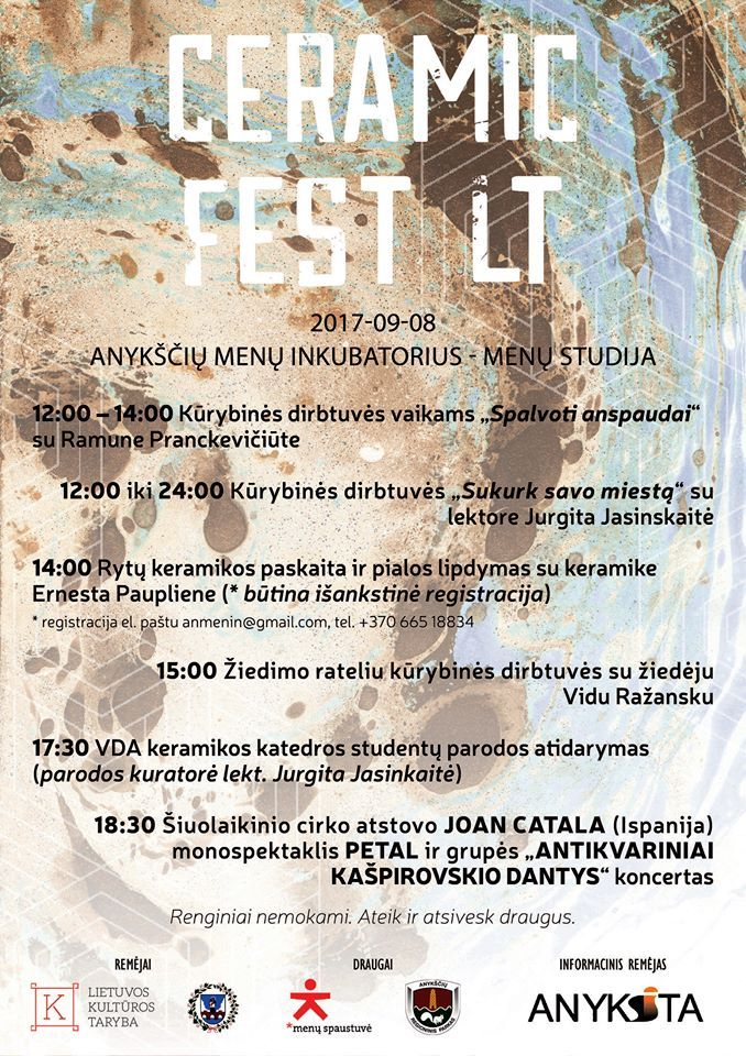 """Kūrybinių industrijų festivalis """"CERAMIC FEST LT"""" (2017) - Baigiamasis festivalio renginys"""