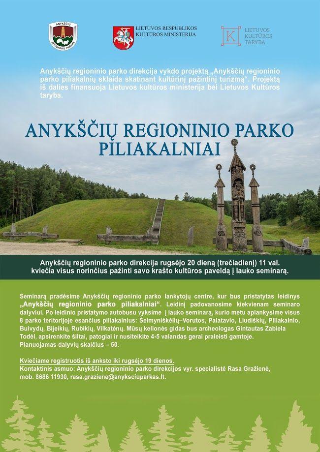 """Lauko seminaras """"Anykščių regioninio parko piliakalniai"""""""