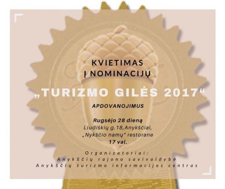 """Apdovanojimai """"Turizmo gilės"""" (2017)"""