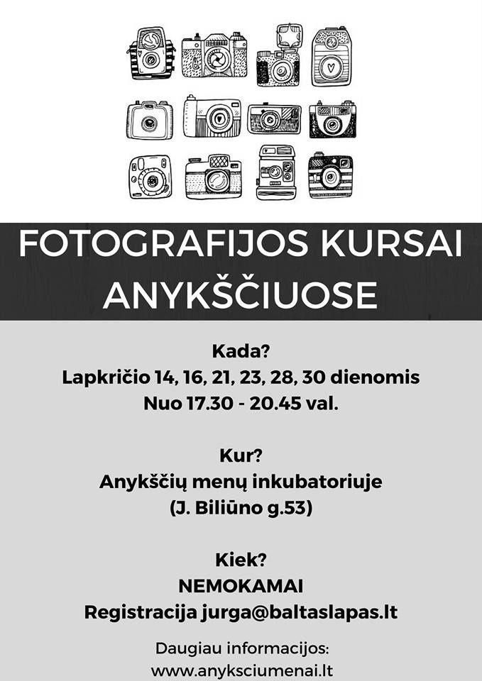 """Meno mokyklos """"Baltas lapas"""" fotografijos kursai Anykščiuose - Pirmoji diena"""