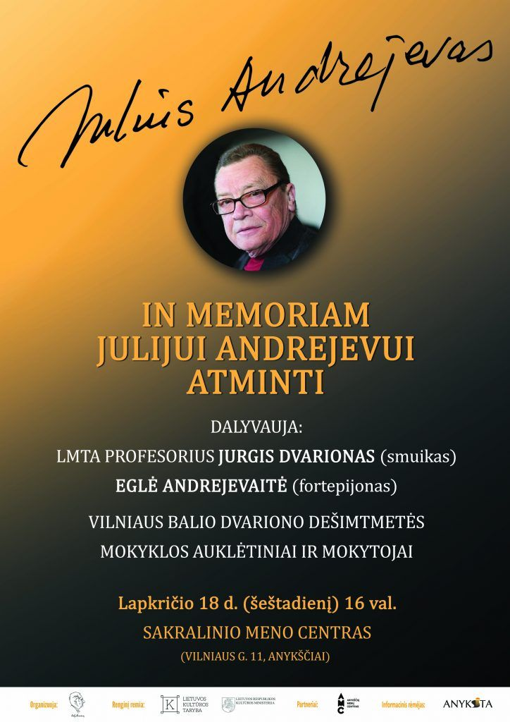 Koncertas kompozitoriui Julijui Andrejevui atminti